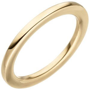 Damen Ring 585 Gold Gelbgold Goldring