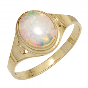 Damen Ring 333 Gold Gelbgold 1 Opal Goldring