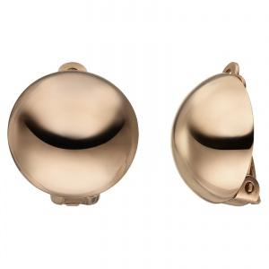 JOBO Ohrclips Halbkugel 925 Sterling Silber rhodiniert mattiert Ohrringe Clips