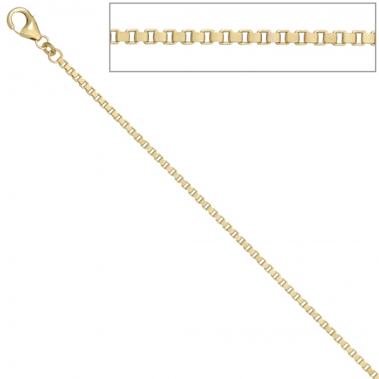 Venezianerkette 585 Gelbgold diamantiert 2 mm 60 cm Gold Kette Goldkette