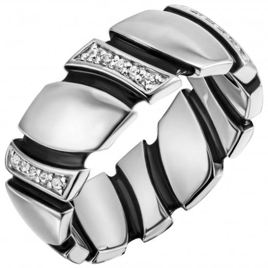 Damen Ring 925 Sterling Silber 30 Zirkonia Silberring