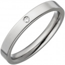 Partner Ring schmal aus Titan 1 Diamant Brillant Partnerring Titanring