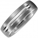 Partner Ring aus Titan matt Partnerring Titanring
